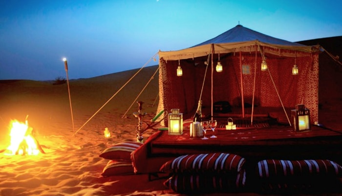 Over night desert safari package