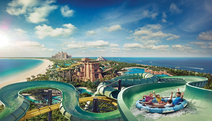 Atlantis Aqua venture Water Park tour in Dubai